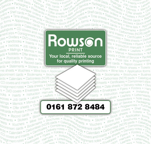 Rowson Print - your local reliable source for quality printing